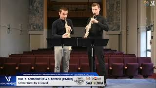 DUO B. BOUBOUNELLE & D. DOVBISH play Selmer Duos by V. David #adolphesax