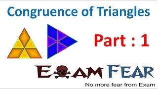 Maths Congruence of Triangles part 1 (Introduction) CBSE Class 7  Mathematics VII