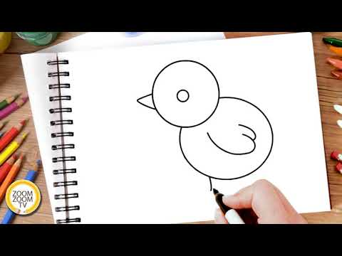 HĐTH: Vẽ chú gà con Trẻ 3-4 tuổi