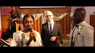 BRIDE SURPRISED GROOM WITH CHRIST - CENTRED |  SPOKEN WORD FROM VIRAL WEDDING |  LYRICS INCLUDED