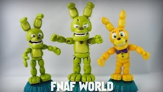 FNAF WORLD : ADVENTURE SPRING BONNIE´S FAMILY TUTORIAL ✔ POLYMER CLAY ✔ COLD PORCELAIN