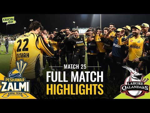 PSL 2019 Match 25: Lahore Qalandars vs Peshawar Zalmi | PEL Full Match Highlights