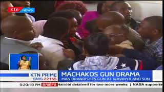 Man brandishes gun at Wavinya Ndeti and son