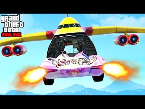GTA 5 - EPIC CARGO PLANE X SCRAMJET STUNT & CUSTOM GAME MODES (Funny Moments & Fails)