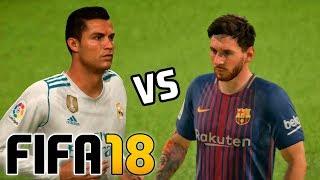 Real Madrid vs Barcelona | FIFA 18 - Santiago Bernabéu