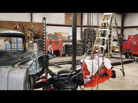 1955 Chevy Motor Install