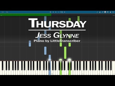 Jess Glynne - Thursday (Piano Cover) Synthesia Tutorial By LittleTranscriber