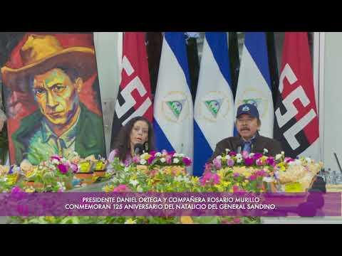 Comandante Daniel Ortega en el 125 Aniversario del Natalicio de Sandino