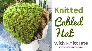 Cable Knitted Beanie Hat with Knitcrate