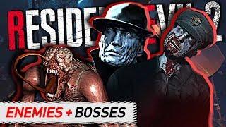 Resident Evil 2 Remake - ENEMIES & BOSSES Guide (Who