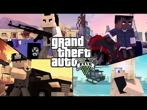 GTA в Minecraft! (Samp-Minecraft!!!) WTF