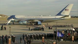 LIVE: Pres. George HW Bush arrives at St. Martin's Episcopal in Houston