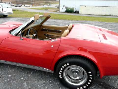 1974 Mille Miglia Red Corvette 4spd Stingray Convertible Video