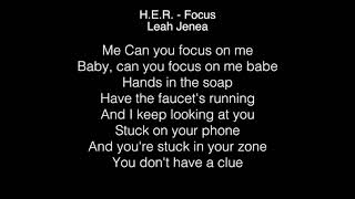 Leah Jenea - Focus Lyrics (H.E.R.) The Four