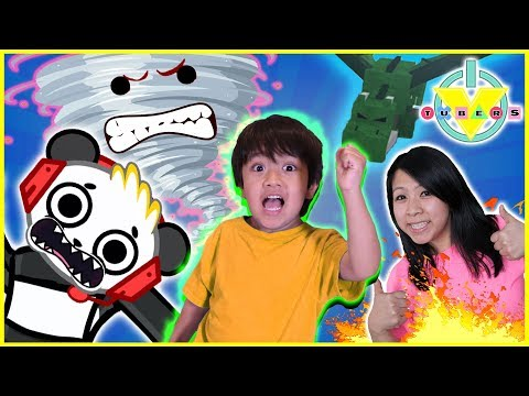 Roblox Escape the Disasters Let's Play with Ryan, Combo Panda, and MORE! (видео)