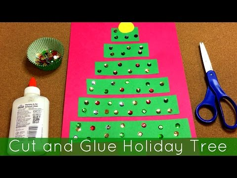 Cut And Glue Holiday Tree Art Project For Preschool And Kindergarten Mp3