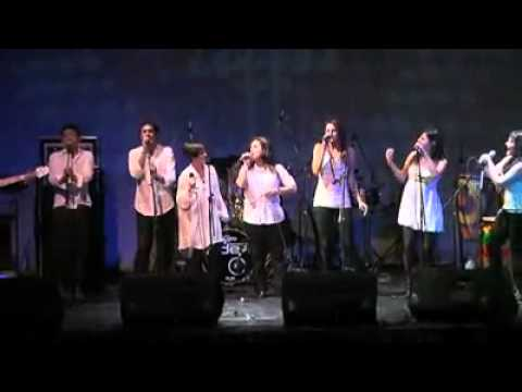 This is a gospel choir in concert, trained by me. In this video, I'm on the piano.