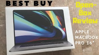 Best Buy Open Box Excellent Certified Review - Apple MacBook Pro 16 Inch