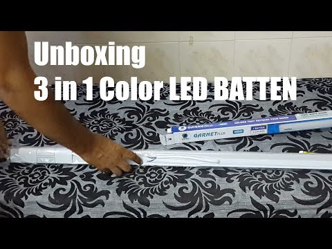 3 in 1 Color LED Tube Light ! Wipro Color Changing 22-Watt LED Batten Light