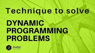 Dynamic Programming Techniques | Dynamic Programming Tutorial |  EP2