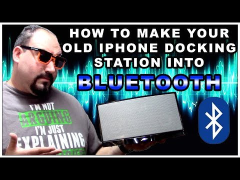 How to make your old iphone docking station into bluetooth