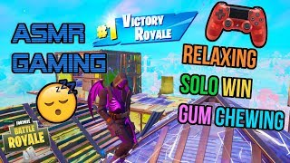 ASMR Gaming 😴 Fortnite Relaxing Solo Win Gum Chewing 🎮🎧 Controller Sounds 💤