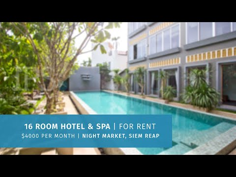 16 Room Hotel  Spa For Rent - Night Market Area, Siem Reap thumbnail