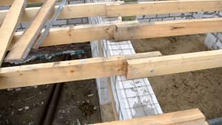 перекрытие первого этажа балками,  (поясок для сна) (день 2)