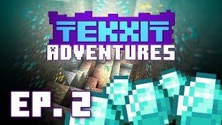 Tekxit Adventures 02: 20 Diamonds in 10 Minutes!