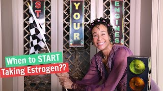 When to START Taking Estrogen Replacement Therapy for Menopause - 87