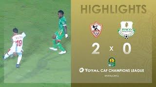 CL CAF : Zamalek SC 2-0 Zesco United FC