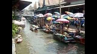 preview picture of video 'DAMNOEN SADUAK FLOATING MARKET, RATCHABURI PROV. (04-14-2010)'