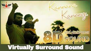 Kannaana Kanney   8D Audio Song   Viswasam   Ajith Kumar, Nayanthara   Tamil 8D Songs