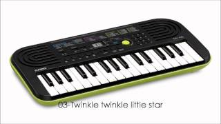 Casio SA-46 Demo Tracks