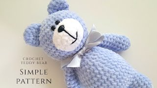 SIMPLE Crochet Teddy Bear Tutorial PART 2 / Beginner Friendly