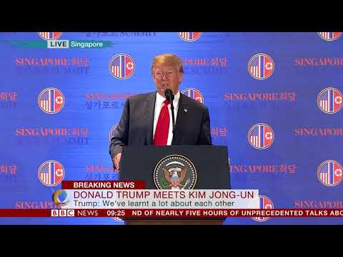 """Donald Trump: """"Only the most courageous can make peace"""" – BBC News"""