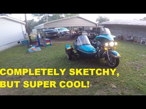 RIDING A HARLEY W SIDECAR! SKETCHY REVIEW!