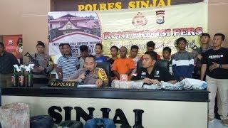 Polisi Tangkap 18 Warga Pembawa Bom Ikan di Sinjai