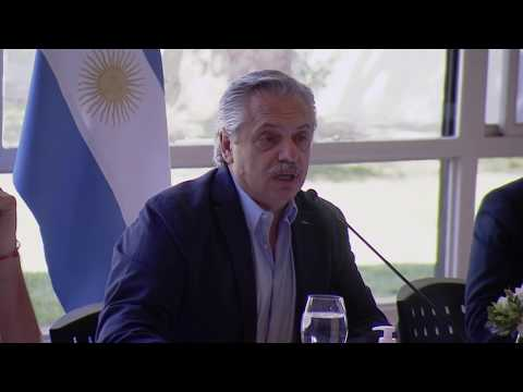 Reunión de Alberto Fernández con intendentes