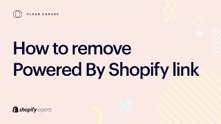 Shopify Tutorial - how to remove 'Powered By Shopify' on your Shopify Store footer (2021)