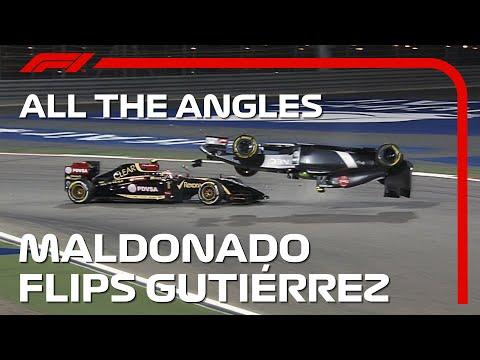 F1 バーレーンGP 2014年に起きたF1マシンが吹っ飛ぶ衝撃映像を納めた動画