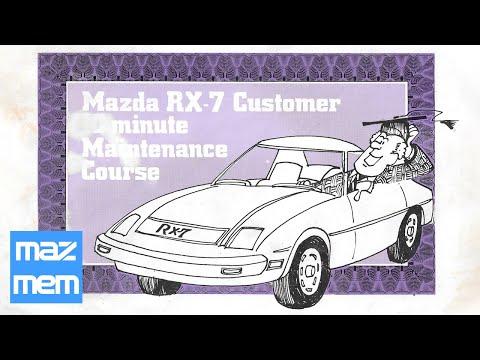 1982 Mazda Rx-7 Customer 10 Minute Maintenance Course