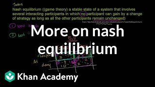 More on Nash Equilibrium