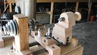 Build A Lathe Out Of Bicycle Parts And Other Junk 1 Of 2 Sound Fixed