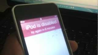 How to reset iPod Touch password if you've forgotten or lost it  - Fix iPod Disabled message
