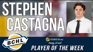 Fortis BC Player of the Week: Stephen Castagna