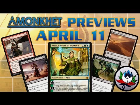 Amonkhet Spoilers: Nissa, Steward of Elements, Rhonas the Indomitable, Grim Strider, and more – MTG!