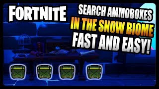 """Search ammoboxes in the Snow biome"" FASTEST and EASIEST Location! (Fortnite Season 8)"