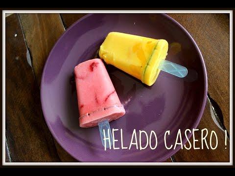 Como hacer paletas de HELADO CASERO - SIN SUBIR DE PESO - ManiMake Perú