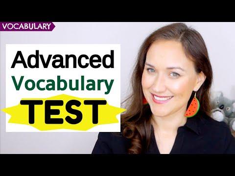 Advanced English Vocabulary Test | 20 Advanced Words